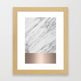 Carrara Italian Marble Holiday White Gold Edition Framed Art Print