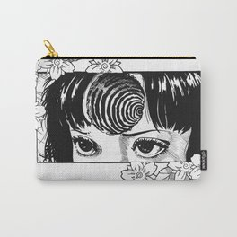 Junji Ito with cherry blossoms Carry-All Pouch