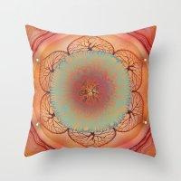 chakra Throw Pillows featuring Sacral Chakra by brenda erickson