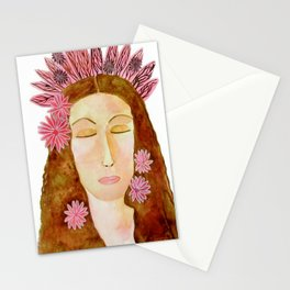 Flora the Goddess of Spring and Renewal Stationery Cards