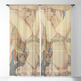 Practice Makes Perfect  Sheer Curtain