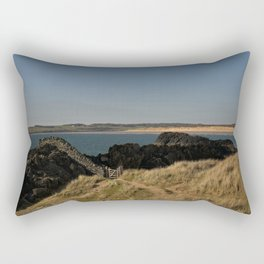 Towards Malltraeth Beach Rectangular Pillow