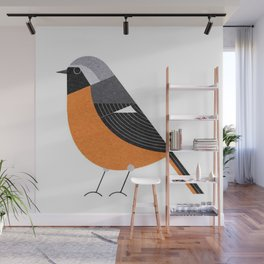 bird art birds cute drawing yellow 2018 Wall Mural