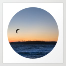 """TWO BIRDS WITH ONE STONE"" kitesurf . kite . surf Art Print"
