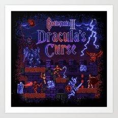 Curse Vania Dracula's Castle 3 Art Print