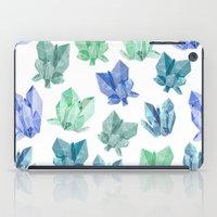crystals iPad Cases featuring Crystals by Marta Olga Klara