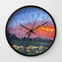 Evening Fire Wall Clock