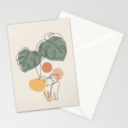 Cat and Plant 36 Stationery Cards