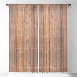 Vintage Wood Floor Sheer Curtain