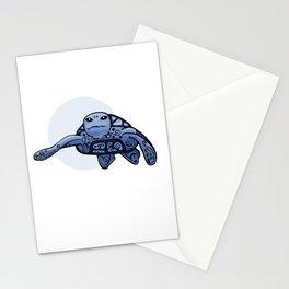 Sea Turtle Loggerhead (blue)  Stationery Cards