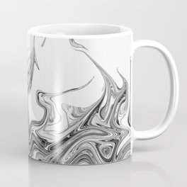 Modern contemporary Black and White Abstract Coffee Mug