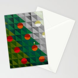 082 - Christmas tree holiday pattern I Stationery Cards