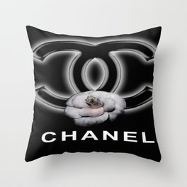 Neon C Throw Pillow