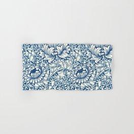 William Morris Navy Blue Botanical Pattern 8 Hand & Bath Towel