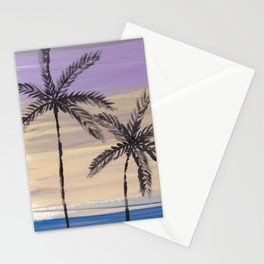 two palm trees euphoric sky Stationery Cards