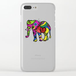 psychedelephant Clear iPhone Case