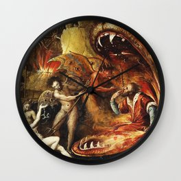 Demons and creatures Wall Clock