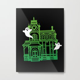 Haunted Victorian House Metal Print