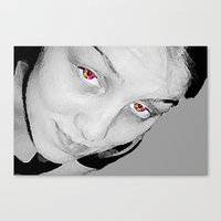 no face Canvas Prints featuring Face by Crayle Vanest
