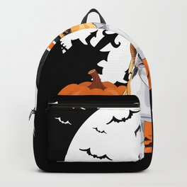 Happy Halloween Little Witch Beagle Backpack
