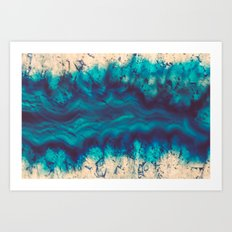 Blue Agate River of Earth Art Print