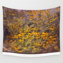 Yellow Jungle Wall Tapestry