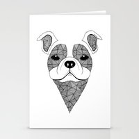 bulldog Stationery Cards featuring Bulldog  by Art & Be