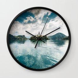 bled lake Wall Clock