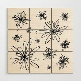 Energy Flowers Wood Wall Art