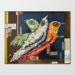 Matchbook Birds Canvas Print