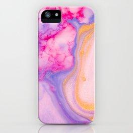 Liquid paint marbling iPhone Case
