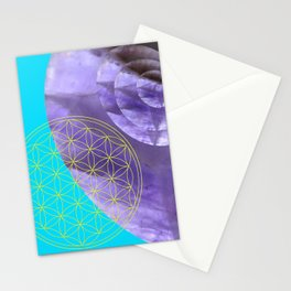 Mystical Flower of Life Amethyst #society6 Stationery Cards
