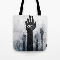 Hands & Eyes #Abstract Tote Bag