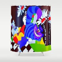 alice in wonderland Shower Curtains featuring Wonderland  by Zero Two Thirteen