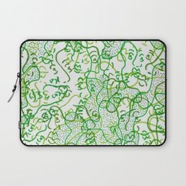 Green on green faces Laptop Sleeve