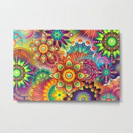 Colorful abstract mandalas Metal Print