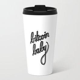 bitcoin baby black Travel Mug