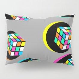 Colorful Graphic Rubicube Geometric Pattern 90s Pillow Sham