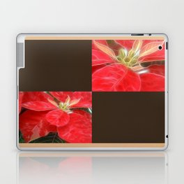 Mottled Red Poinsettia 1 Ephemeral Blank Q3F0 Laptop & iPad Skin