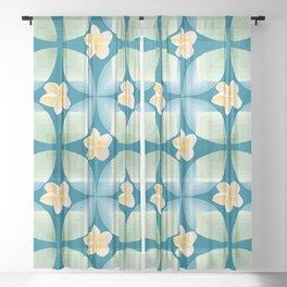 Plumeria Floral Sheer Curtain