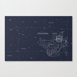 Starscream Star Chart Canvas Print