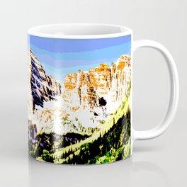 Colorado Mountain Art Mixed Media Coffee Mug