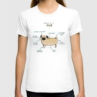 anatomy T-shirts featuring Anatomy of a Pug by Sophie Corrigan