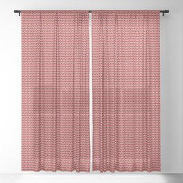 Less Than Zero Equals Red Sheer Curtain