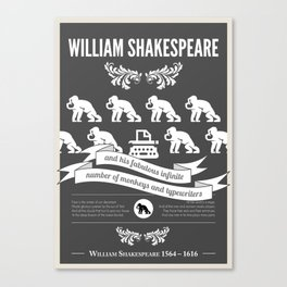 Science poster - Sheakespeare Canvas Print