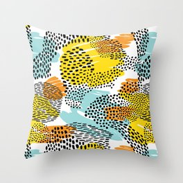 Eclectic Animal Print Pattern Throw Pillow