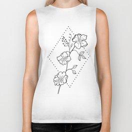 Wildflower in Stippled Diamond Illustration Biker Tank