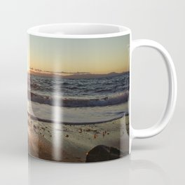 Sunset on The Beach In Torre Delle Stelle Coffee Mug
