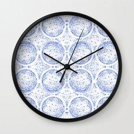 cornflower blue Wall Clock