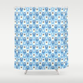 Weather jellyfishes Shower Curtain